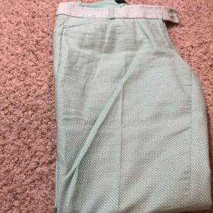 Light green ankle dress pants
